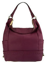 B. Makowsky As Is Pebble Leather Zip-Top Hobo