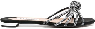 Aquazzura Crystal-Embellished Knot-Detail Sandals