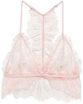Anine Bing Lace Back Detail Bra Pink