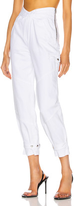 RtA Dallas Dallas Baggy Cargo Pant in Optic White 3 | FWRD