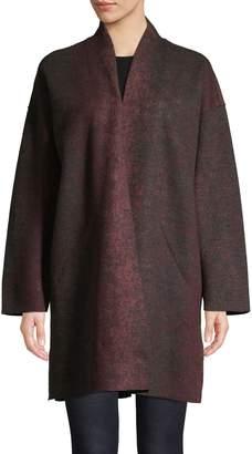 Eileen Fisher Wool-Blend Kimono Coat