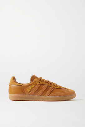 adidas Jonah Hill Samba Leather And Suede Sneakers - Camel