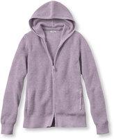 L.L. Bean Women's Cotton/Cashmere Sweater, Waffle Hoodie
