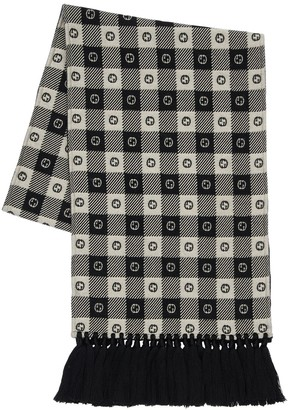 Gucci Interlocking Gg Wool & Cotton Scarf