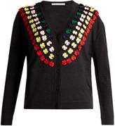 Marco De Vincenzo Bow-embellished wool cardigan