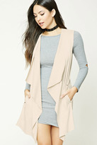 Forever 21 FOREVER 21+ Draped Faux Suede Vest