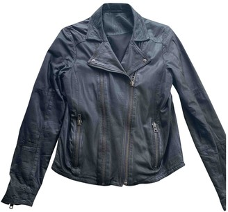 2nd Day Grey Leather Jacket for Women