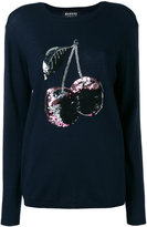 Markus Lupfer sequin cherry embroidered jumper - women - Plastic/Merino - XS