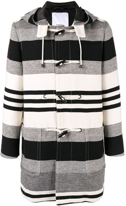 Ports V Striped Duffle Coat