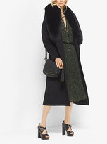 Michael Kors Fur-Trimmed Wool And Cashmere Coat