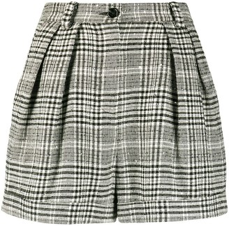 Patrizia Pepe Cuffed Checkered Shorts
