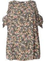 Dorothy Perkins Womens DP Curve Plus Size Floral Cold Shoulder Top- Multi Colour