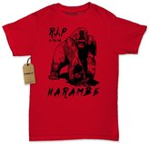 Expression Tees Womens RIP Harambe (Black Print) T-Shirt