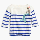 J.Crew Girls' striped sequin mermaid T-shirt