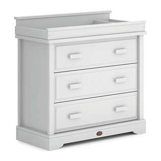 Boori 3 Drawer Dresser (with Squared Changing Station), Wood, Barley White