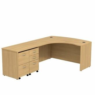 Bush Business Furniture Series C L-Shape Executive Desk Color: Mahogany/Mahogany, Orientation: Left