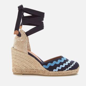 Castaner Women's Craby Wedged Espadrille Sandals - Azul Multi