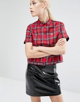 Fred Perry Amy Winehouse Foundation Plaid Bowling Shirt