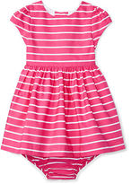 Ralph Lauren Girl Striped Cotton Dress & Bloomer