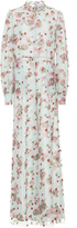 Luisa Beccaria Floral Embroidered Wide Legged Jumpsuit