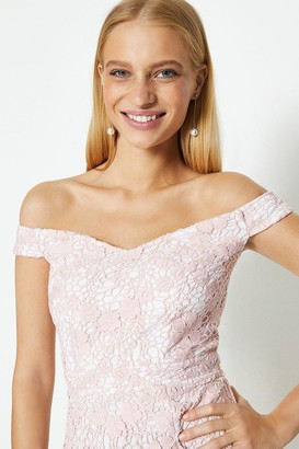 Coast Lace Bardot Midi Dress
