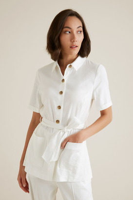 Seed Heritage Belted 70's Shirt