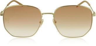 Gucci Squared-frame Gold Metal Sunglasses