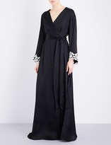 La Perla Maison embroidered silk-satin robe
