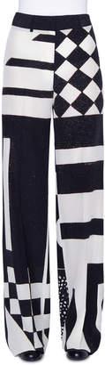 Akris Flore Kaleidoscopic Silk Full-Leg Pants