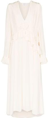 Victoria Beckham Ruffle Midi Dress