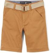 Beverly Hills Polo Club British Khaki Belted Twill Shorts - Infant Toddler & Boys