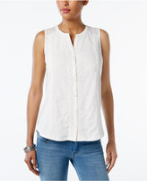 Style&Co. Style & Co Petite Cotton Blouse, Only at Macy's
