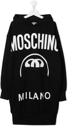 MOSCHINO BAMBINO Logo Print Jumper Dress