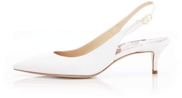 Marion Parke Riley | Nappa Leather Slingback Kitten Heel