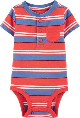 Osh Kosh Baby Boys' Pocket Henley Bodysuit