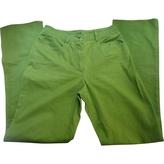 Miu Miu Green Cotton Trousers