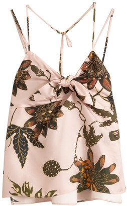 Dorothee Schumacher Powerful Flora Top in Rose Passiflora