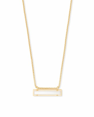 Kendra Scott Leanor Adjustable Length Bar Pendant Necklace for Women Fashion Jewelry 14k Rose Gold-Plated