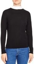 Sandro Perle Tie-Back Merino Wool Sweater