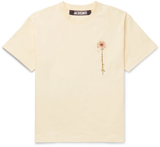 Jacquemus Logo-Embroidered Printed Cotton-Jersey T-Shirt