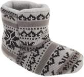 Slumberzzz Boys Fair Isle Pattern Slipper Boots