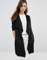Only Melanie Faux Suede Belted Jacket