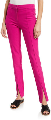 Ora Slim Trousers with Front Slit