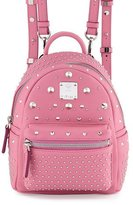 MCM Stark Special Bebe Boo Leather Backpack, Chateau Rose