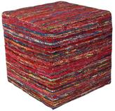 Kas Rugs Contempo Red Accent Pouf