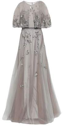 Marchesa Layered Embellished Tulle Gown