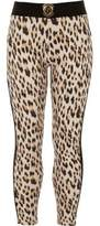 River Island Girls brown leopard print leggings