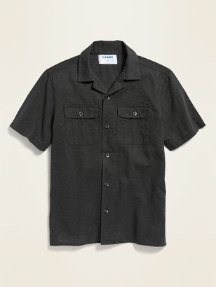 Old Navy Linen-Blend Utility Camp Shirt for Boys