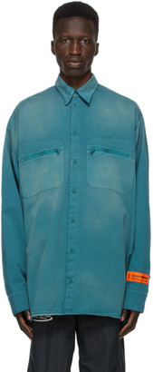 Heron Preston Blue Outdoor Shirt
