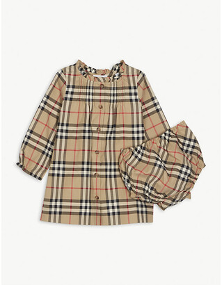 Burberry Marissa checked cotton dress with bloomers 3-18 months